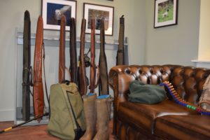 Guns and wellies at Fenton Brunt Cottage