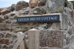 Sign for Fenton Brunt Cottage