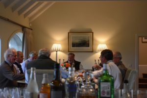 Members enjoying lunch at Fenton Brunt Club