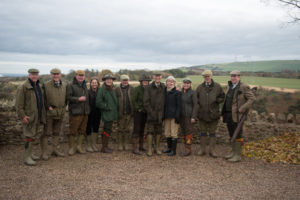 Fenton Brunt Club members ready for a days shooting